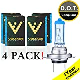 Voltage Automotive H7 Headlight Bulb Polarize White Replacement for Car Motorcycle (4 Pack)
