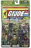 """GI JOE VS. COBRA Action Figure 3-Pack: Ralph """"Steeler"""" Pulaski, GENERAL FLAGG and COBRA OFFICER"""