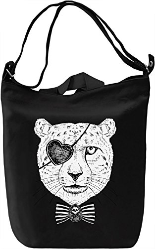 Pirate cheetah Borsa Giornaliera Canvas Canvas Day Bag| 100% Premium Cotton Canvas| DTG Printing|