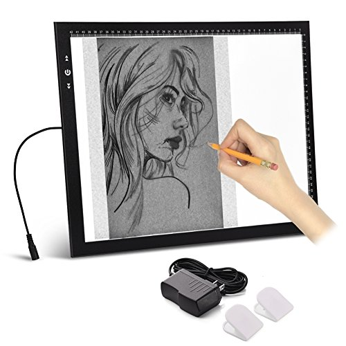 A3 Light Box Light Pad Aluminium Frame Touch Dimmer 11W Super Bright Max 4500 Lux with Free Carry/Storage Bag 2 Years Warranty (A3 Light pad)