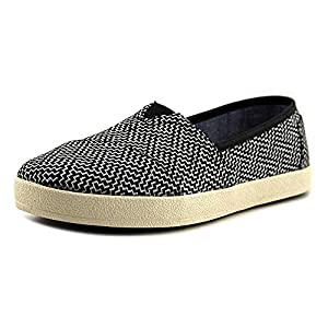TOMS Women's 10006322 Black Coated Canvas Avalon' Fashion Sneaker by Toms