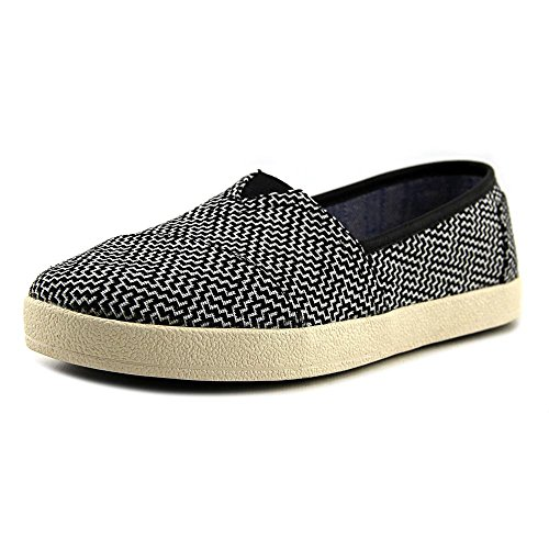 TOMS Women's 10006322 Black Coated Canvas Avalon' Fashion Sneaker