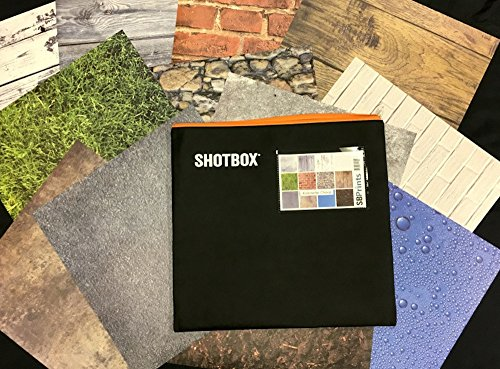 SHOTBOX - Art PANELS Complete Set. 4 Sets of Original Photography Background Paper for Table Top Product Photography - 48 Prints on Matte Finish Vinyl. For use with SHOTBOX (Photo Background Print Iphone)