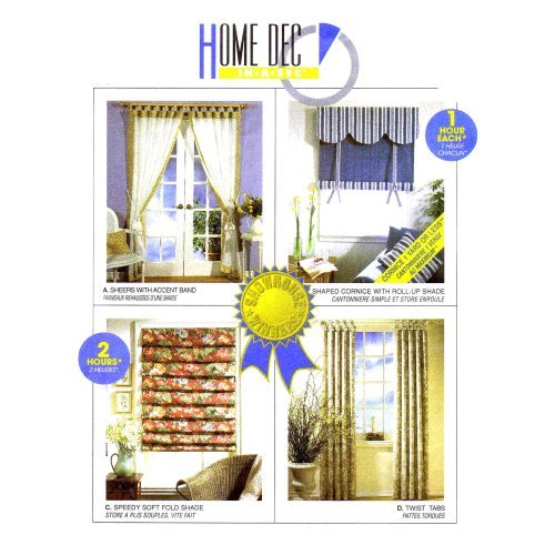 McCall's Home Decor Pattern 3088 Timesaving Window Treatments