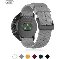 Horlogeband voor Suunto Spartan Sport Pols HR Baro/Suunto 9 /Suunto D5, Silicone Sport Horlogeband Fitness Band voor Suunto Spartan Sport Pols HR Baro/Suunto 9 /Suunto D5