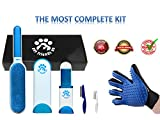 #2: Fur Wizard - Lint Brush - Pet Hair Remover Brush With Self Cleaning Base - Dog & Cat Grooming Glove - Efficient Animal Hair Removal Tool - Two Combs Bonus - Perfect Gift Box by Pet Friends On