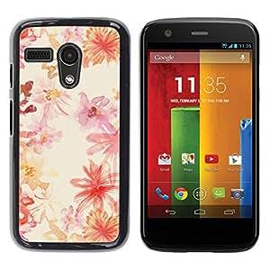 """Pulsar Snap-on Series Teléfono Carcasa Funda Case Caso para Motorola Moto G ( 1st Generation ) , Patrón de Arte de la acuarela Blanca"""""""