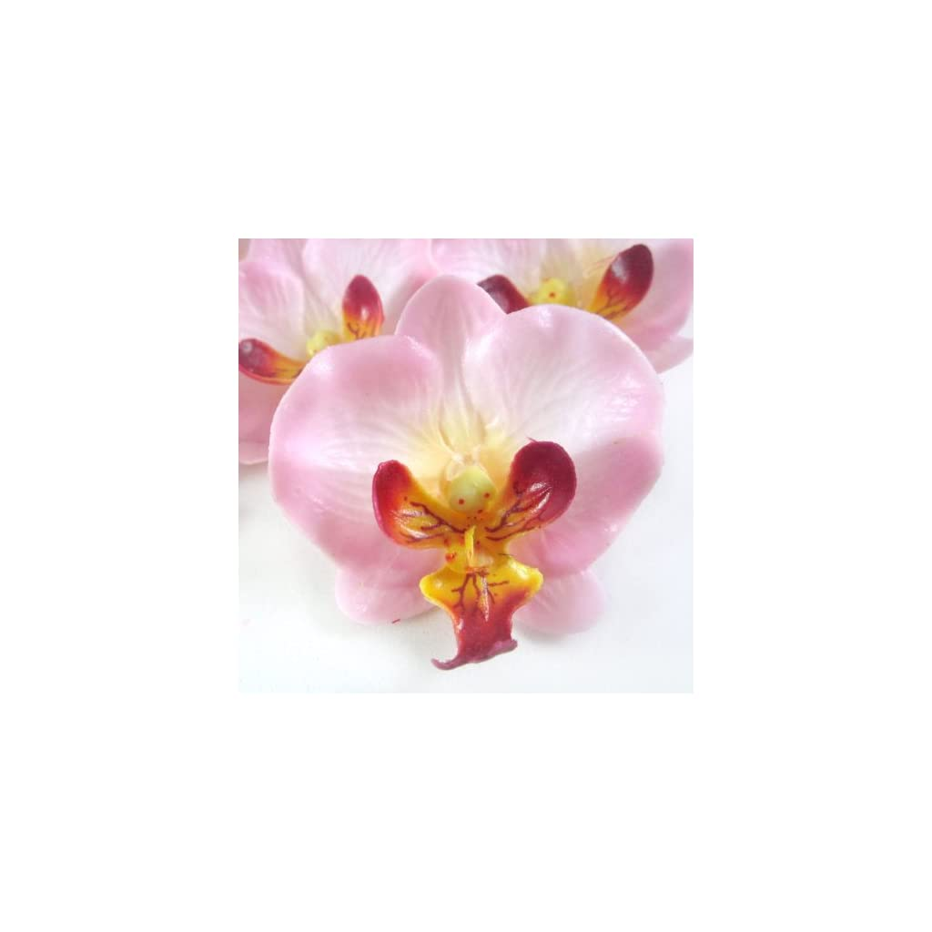 12-Small-Light-Pink-Phalaenopsis-Orchid-Silk-Flower-Heads-2-Artificial-Flowers-Heads-Fabric-Floral-Supplies-Wholesale-Lot-for-Wedding-Flowers-Accessories-Make-Bridal-Hair-Clips-Headbands-Dress