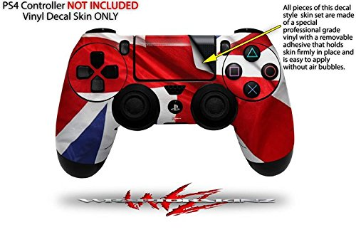 Vinyl Skin Wrap for Sony PS4 Dualshock Controller Union Jack 01 (CONTROLLER NOT INCLUDED)