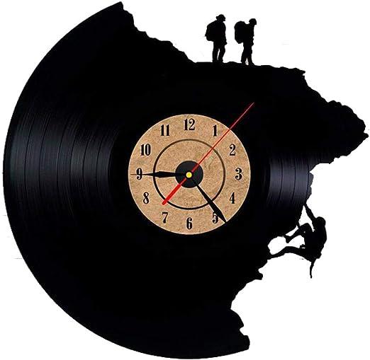 MIYA Disco de Vinilo Reloj,Escalada en Roca Vinilo Reloj de ...