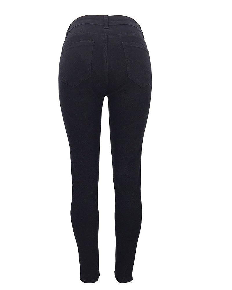 Minetom Autunno Inverno Alta Vita Elastico Skinny Pantaloni Stretti Da Donna Eleganti Leggings Treggings Lunghi Matita Pantaloni Pants