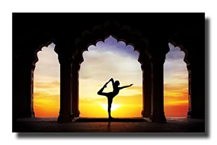 Amazon.com: Yoga Poses Asanas Exercise Canvas Wall Art ...
