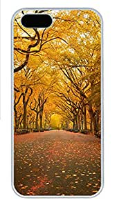 iPhone 5s Case, iPhone 5s Cases - Landscapes yellow trees Custom Design iPhone 5s Case Cover - Polycarbonate