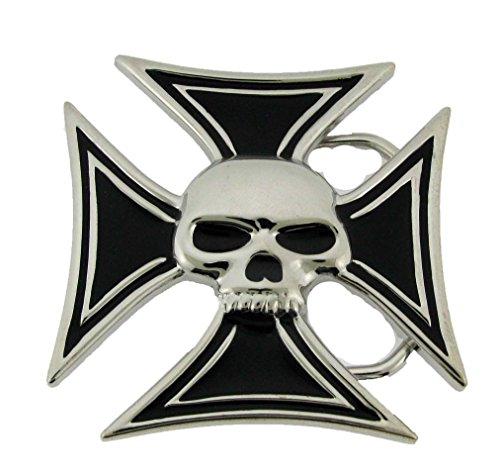 Skull Belt Buckle Antiqued Metal Halloween Skeleton Grim Reaper Metal Gothic Tattoo (Chopper Buckle)