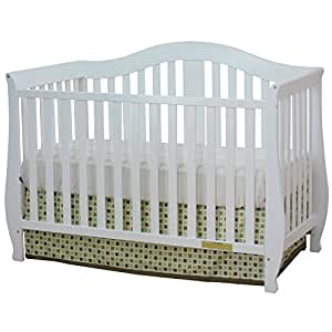 Athena AFG Desiree 4-in-1 Convertible Crib with Guardrail White