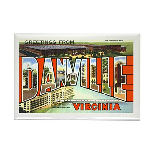 CafePress Danville Virginia Greetings Rectangle Magnet, 2