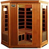 Crystal Sauna FWC350 3-4 Person Family Infrared Sauna in Red Cedar For Sale