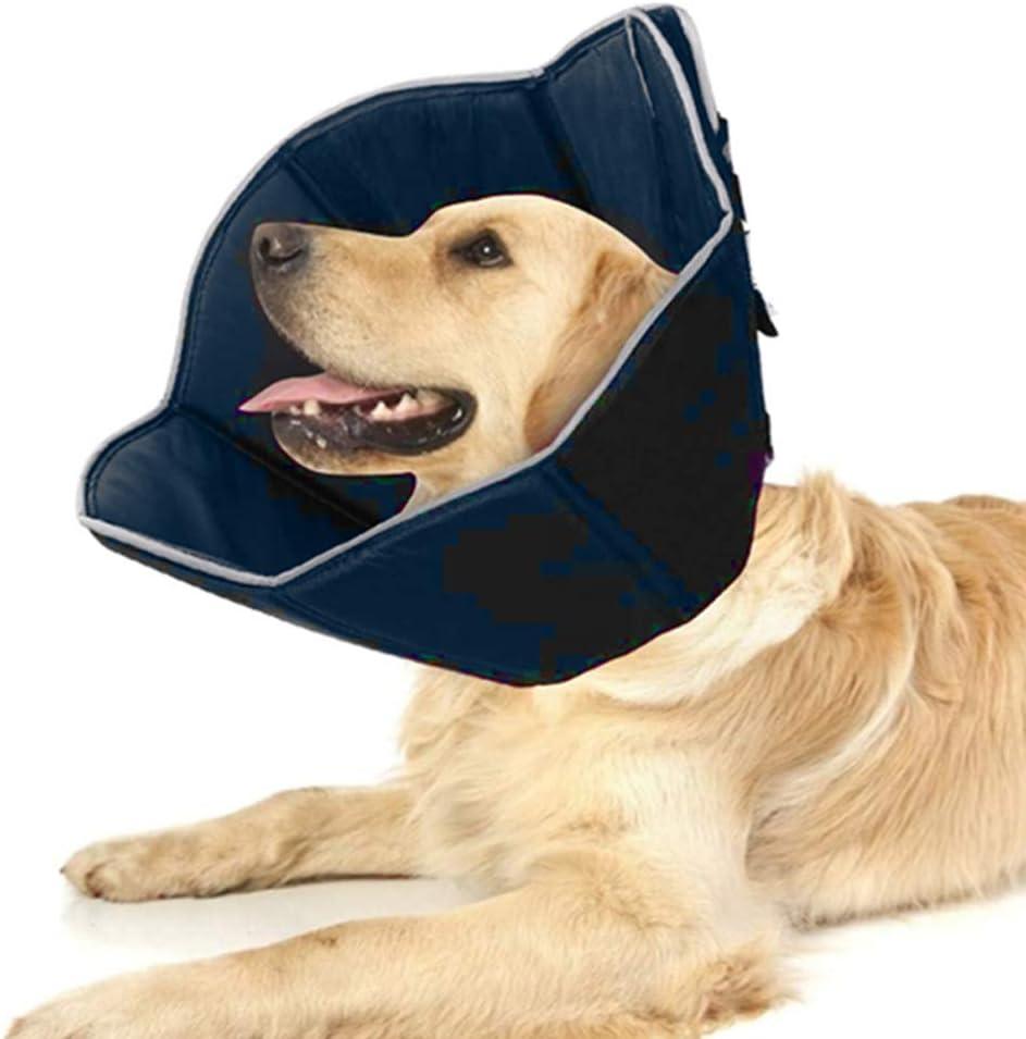WingFly Collar de Recuperación para Perros Gatos, Cono de Cuello Isabelino Ajustable para Mascotas Recuperación de Cirugía o Heridas (XL)