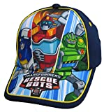 Transformers Boys Rescue Bots Navy Blue Baseball Cap - Size Toddler [6014]