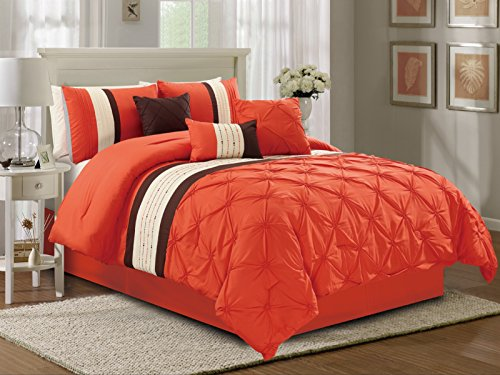 Empire Home 7 Piece Solid Soft Pinch Pleated Oversized Comfo