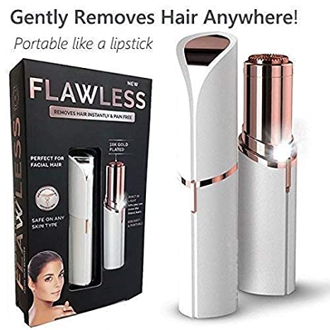 Flawless Painless Electric Hair Removal Shaver Without Battery White And Gold Amazon In Health Personal Care