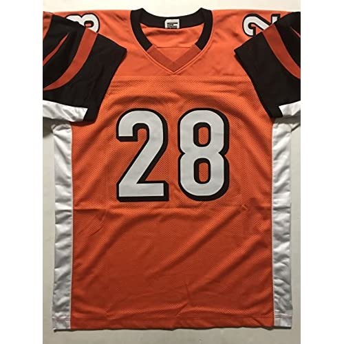 0b2de1083 Autographed Signed Joe Mixon Cincinnati Bengals Orange Football Jersey JSA  COA