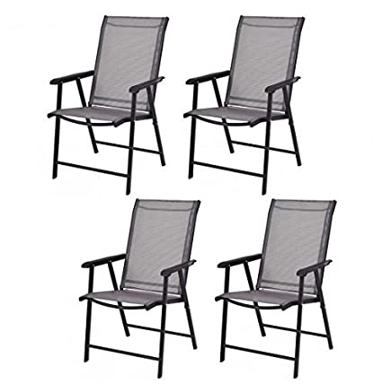 Amazon Com Md Group Patio Chairs Foldable Design Sturdy Durable