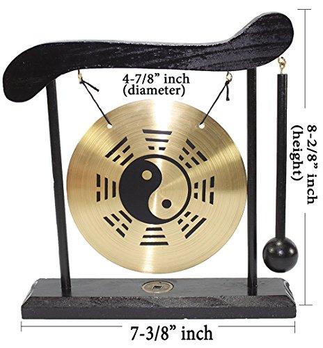 - Taiji Zen Table Gong Feng Shui Meditation Desk Bell Home Decor Housewarming Congratulatory Blessing Gift US Seller (Taiji Gong-WDC969)