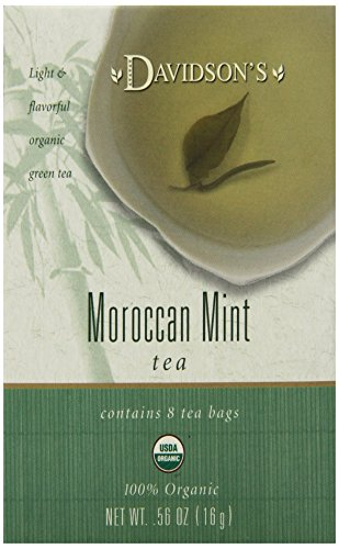 Davidson's Tea Moroccan Mint Tea, 8-Count Tea Bags (Pack of 12) Organic Clear Honey