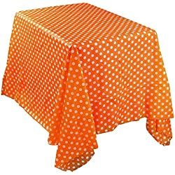Mchoice Waterproof Oilproof Plastic Tablecovers Table Cloth Cover Party Catering Events Tableware (Orange)