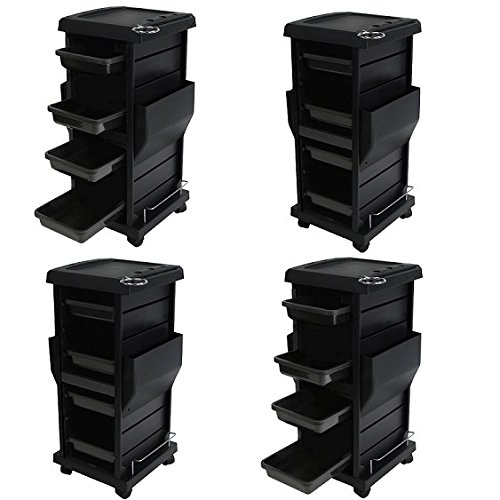 Salon Spa Tool Accessories Holder Storage Trolley Cart Package 4 x TR-10A by Salon CA