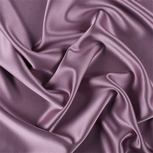 Mauve Silk Crepe Back Satin, Fabric by The Yard ()