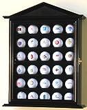 30 Golf Ball Designer Display Case Cabinet Holder Wall Rack -Black