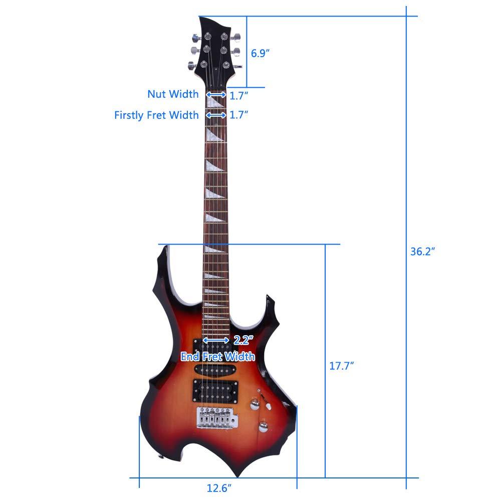 Juego de cables para guitarra eléctrica, con diseño de llama ...