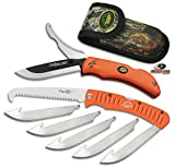 Outdoor Edge ROC-30 Razor-Pro Knife and Saw Combo - Blaze Orange with Mossy Oak Sheath