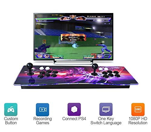 Haberman 2350 in 1 Arcade Game Console 1080P, 3D & 2D Games, 2 Players Arcade Game Machine with Arcade Joystick for Home, Support Expand 10000+ Games (Console×1) by Haberman (Image #2)