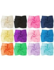 BMC Fashionable Chic 12pc Ultra Soft Lightweight Mixed Solid Color Womens Scarf Accessory Set