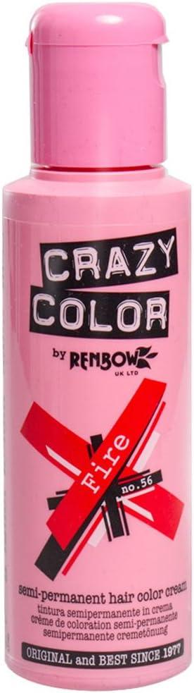Tinte Capilar Semi-Permanente Crazy Color (Fire Red) + GRATIS Estuche Blue Banana Sugar Skull