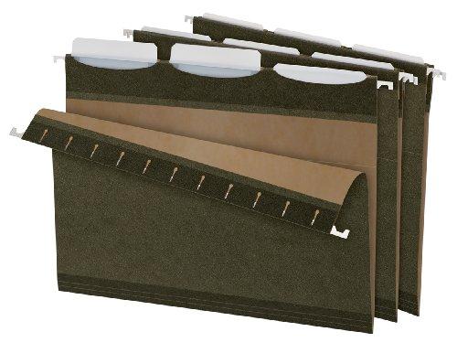 Pendaflex Ready-Tab Reinforced Hanging Folders with Lift Tab Technology, Letter Size, 3-Tab, Standard Green, 25 per Box (42620)