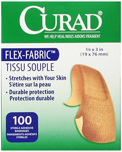 (Medline Bandage Adhesive Fabric 3/4 Inch x 3 Inch, 100 Count)