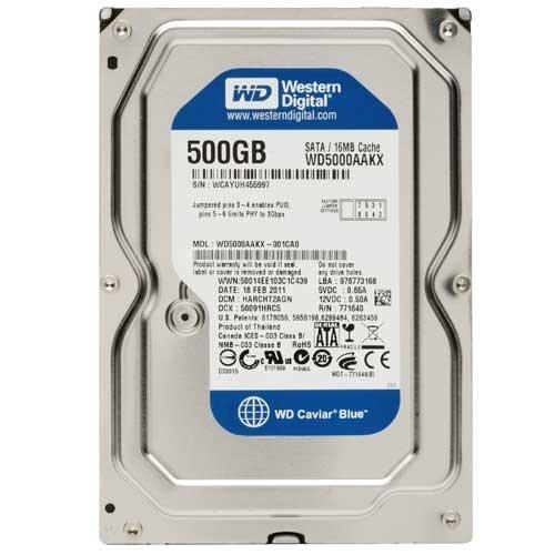 Western Digital WD5000AAKX 500GB Internal Hard Drive (Blue) - 6