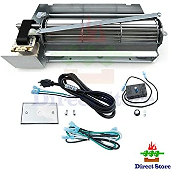 amazon com direct store parts kit dn110 replacement gas universal gas fireplace blower kit gas fireplace blowers universal