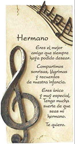 Framan PERGAMINO DE Piedra LABRADA con Textos para Ocasiones Especiales, Original Y ECONÓMICO. Especial Hermano