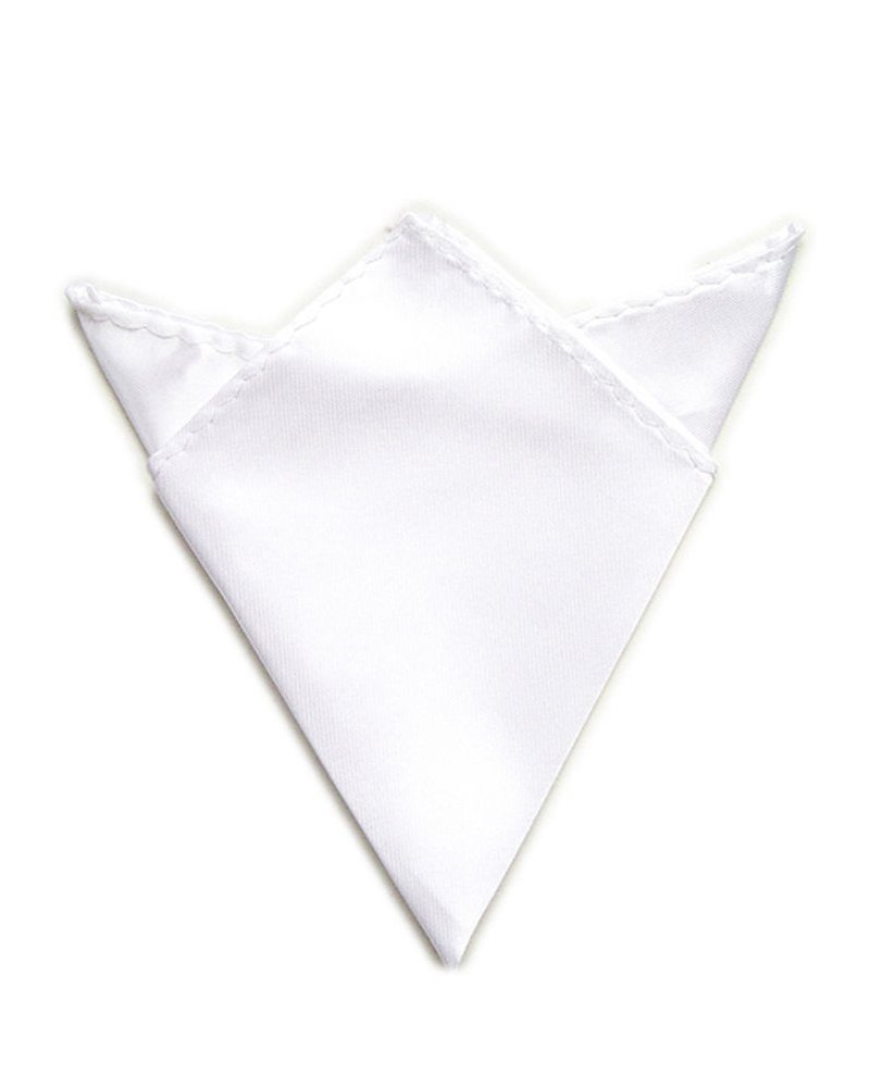 Trimming Shop Men's Satin Handkerchief For -Italian Square Pocket Hanky 9'' (23Cm) Ivory by Trimming Shop (Image #1)