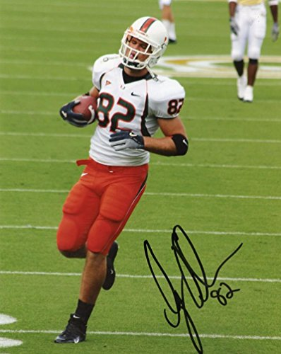GREG OLSEN MIAMI HURRICANES SIGNED AUTOGRAPHED 8X10 PHOTO W/COA - Greg Olsen Miami