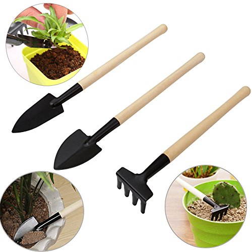 SONGZIMING 15 Pieces Succulent Plants Tools, Mini Garden Hand Tools Set Transplanting Tools Miniature Planting Gardening Tool Set for Indoor Miniature Fairy Garden Plant Care
