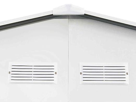 habitatetjardin Garaje en Metal Nevada con Puerta abatible - 15, 36 m²: Amazon.es: Jardín