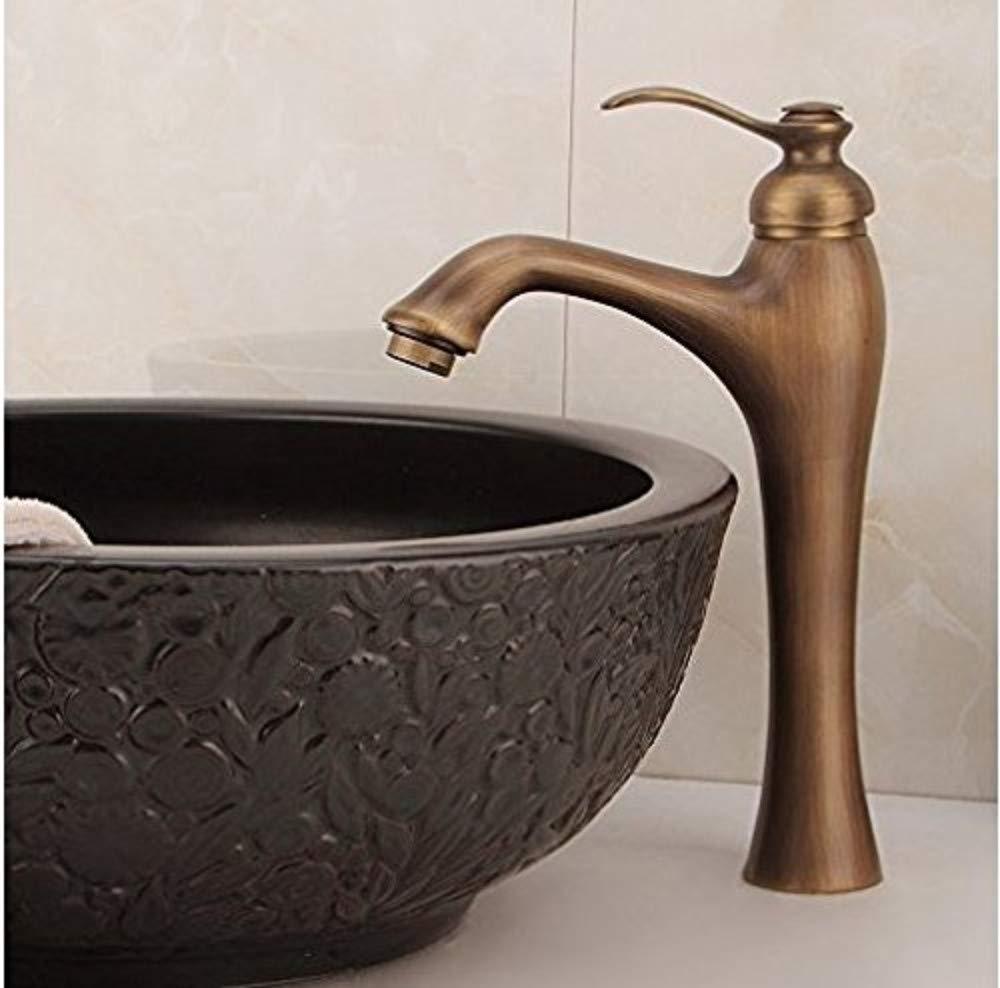 360° redating Faucet Retro Faucetcontinental Basin Faucet Lavatory Faucet Antique Copper Tap