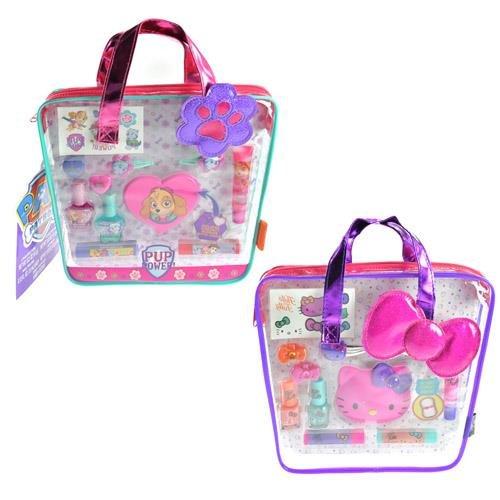 SANRIO Hello Kitty & Paw Patrol Cosmetics in Tote Bag Assorted Set, Multicolor