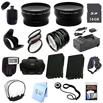 Avanzada profesional slr Kit: para Nikon D3000 Cámara réflex ...